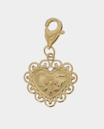 Pendentif Charms coeur dentelle